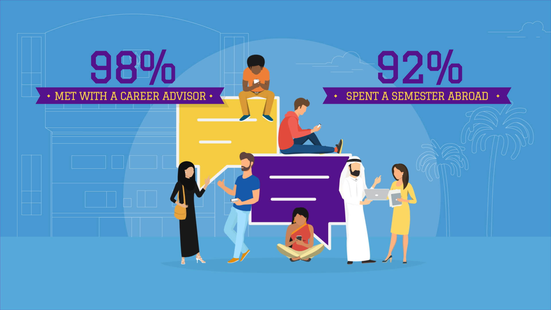 2D animated explainer infographic video by We Are Alive, an animation studio in Dubai and the UK