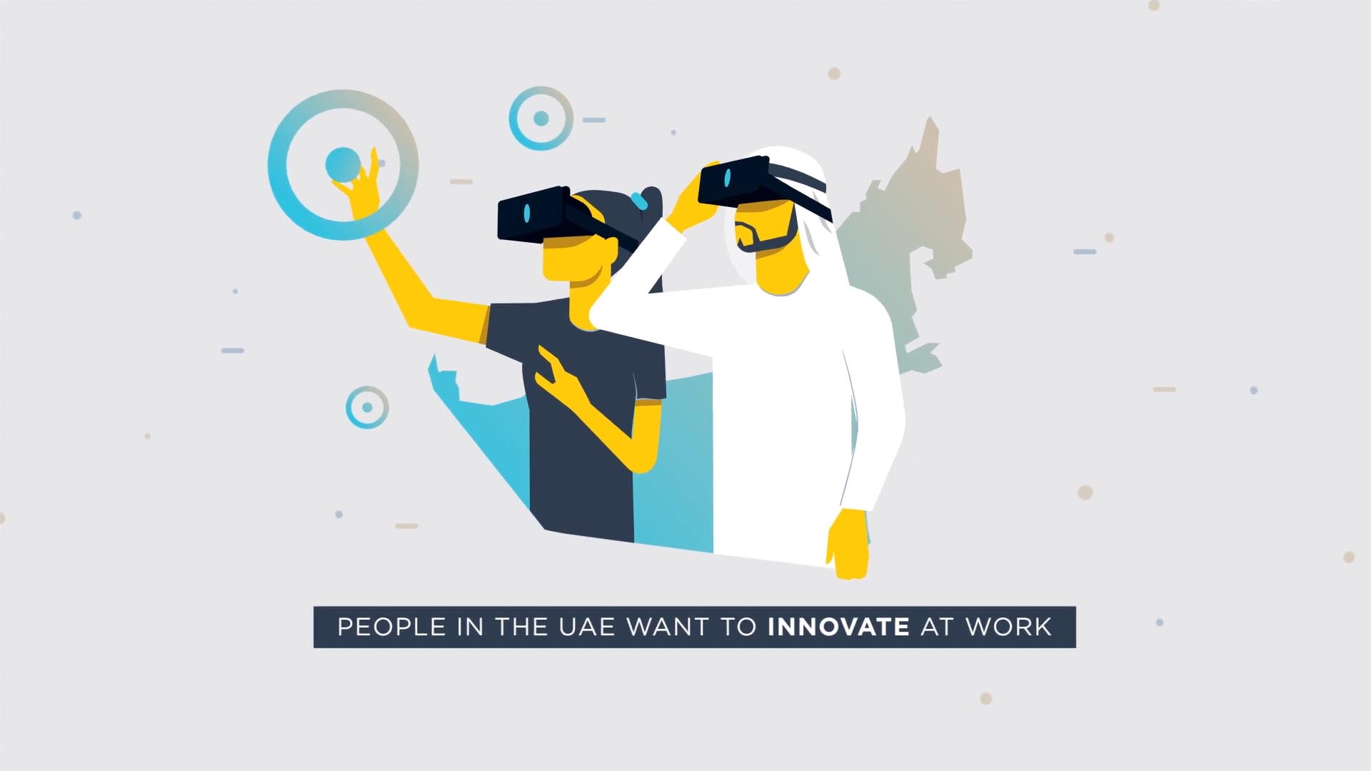 2D animated explainer video used for company internal communication by animation studio based in Dubai and the UK