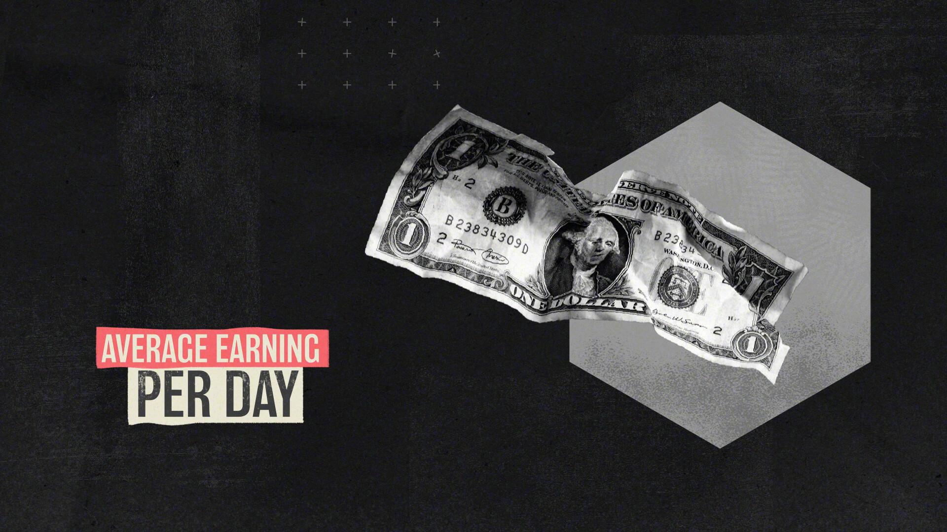 Average earning infographic design