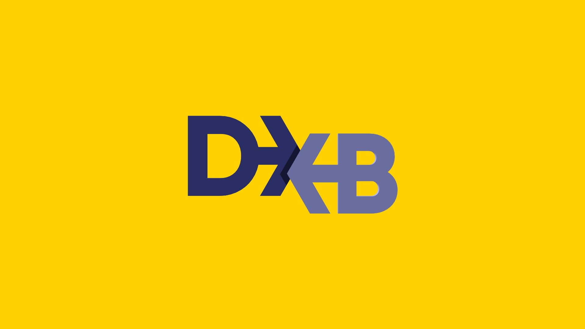 DXB 3D logo animation