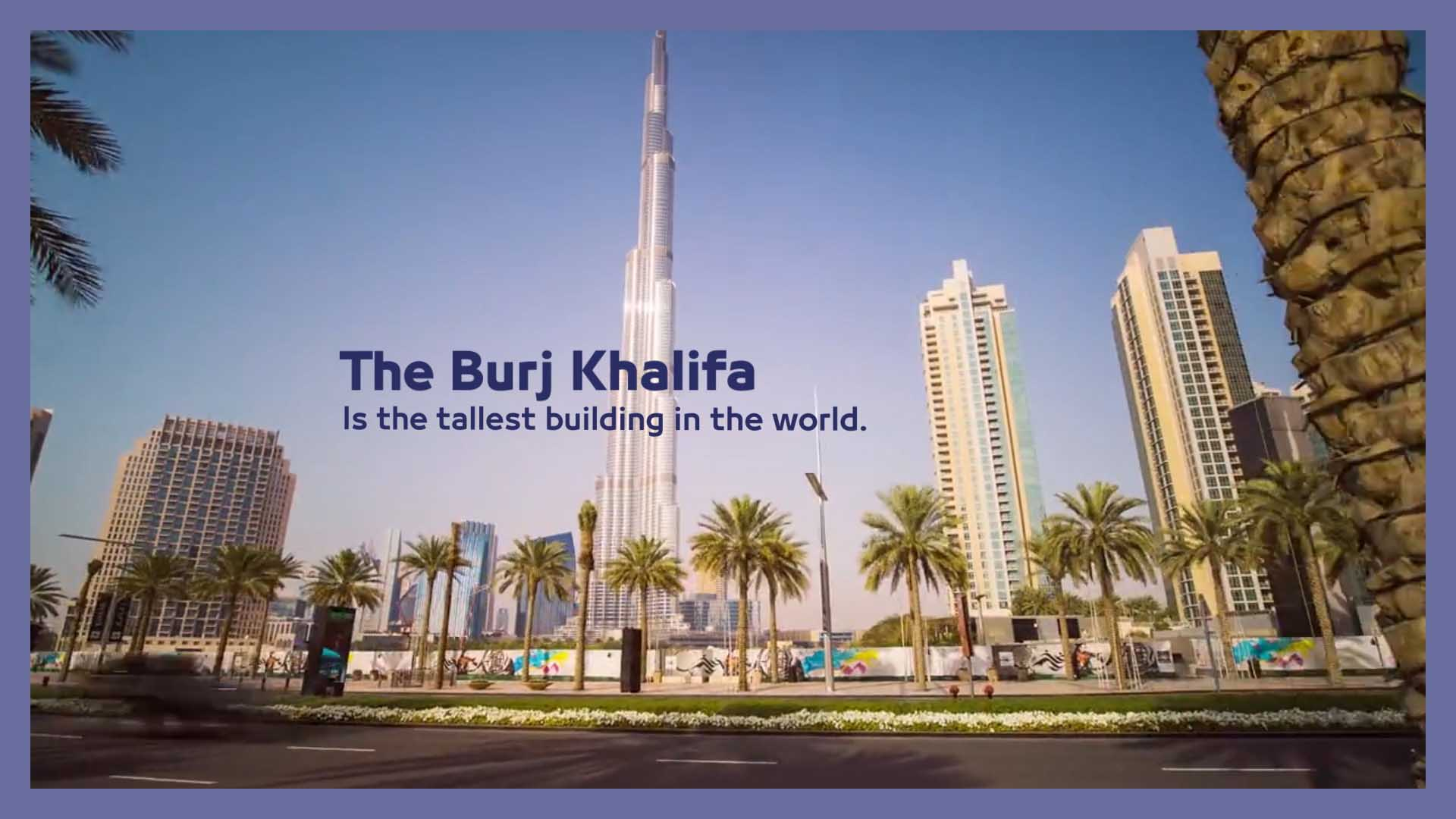 Burj Khalifa data on footage