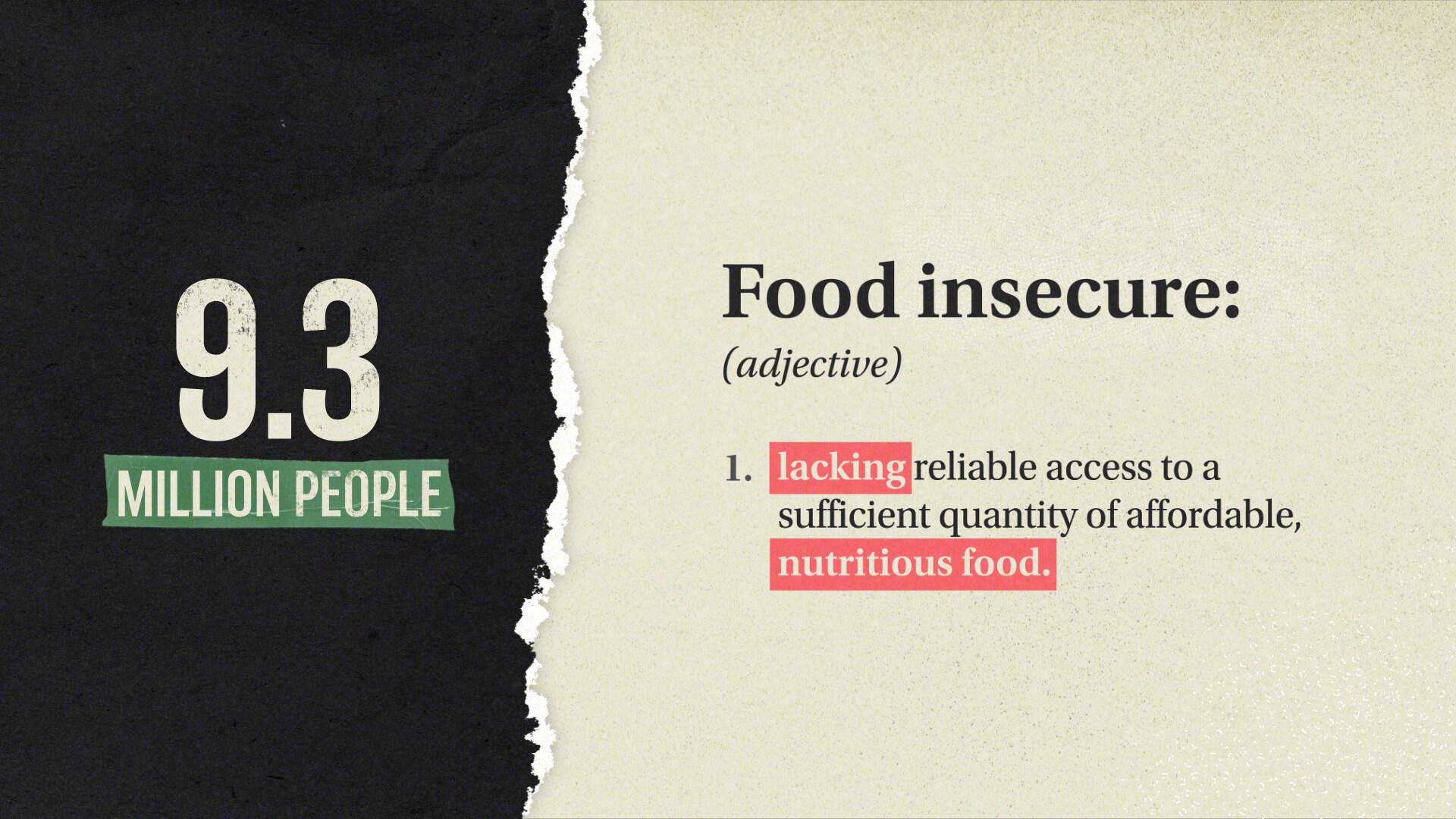 Food infographic animation