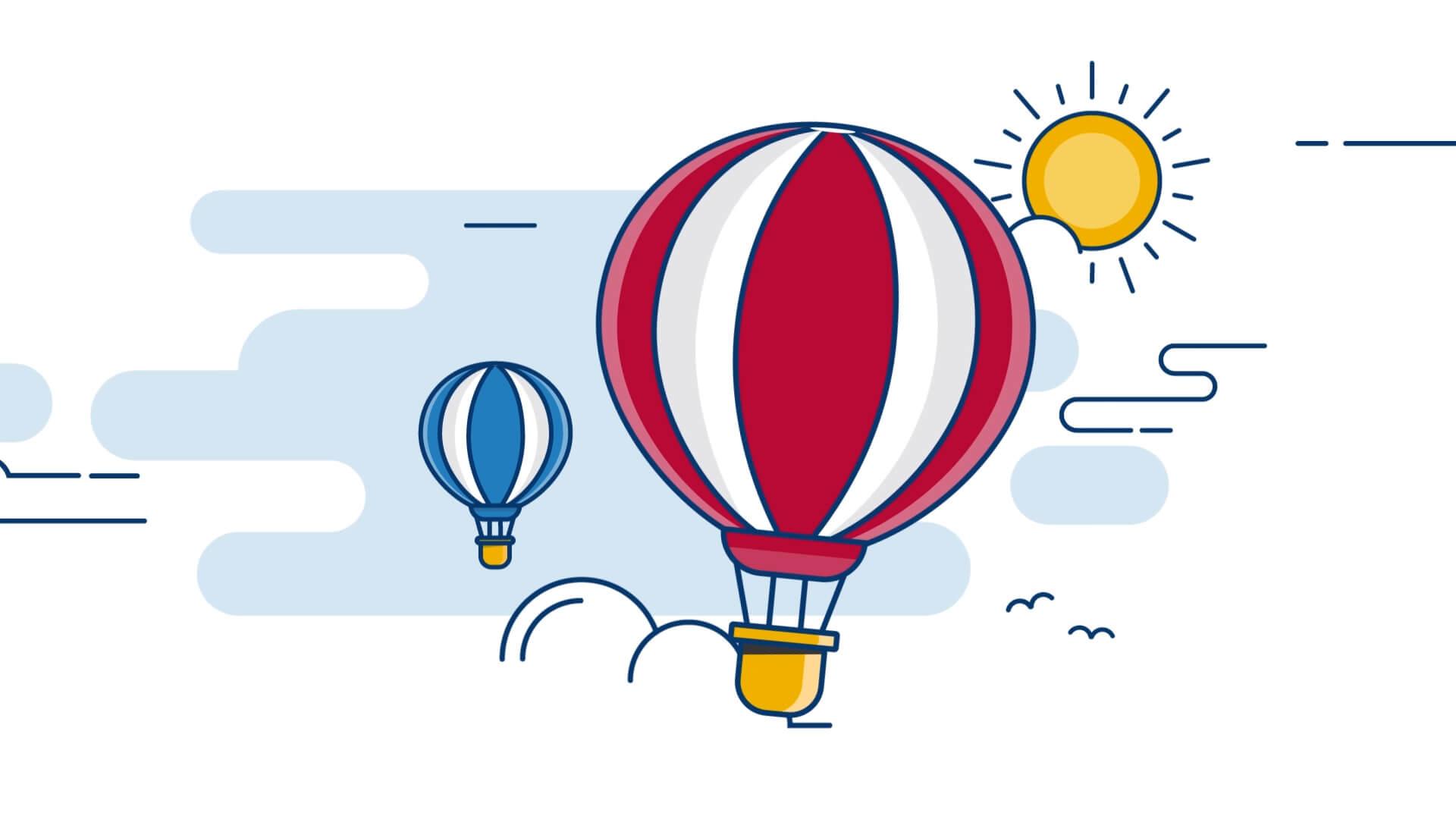 Explainer video hot air baloon