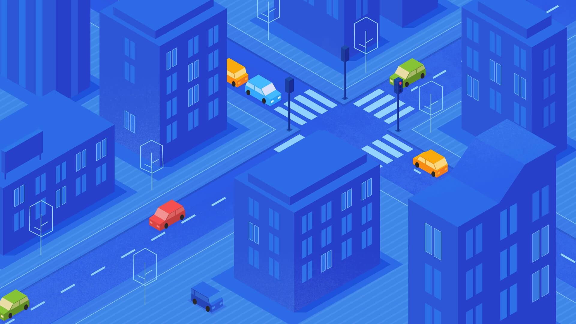 Startup animation street