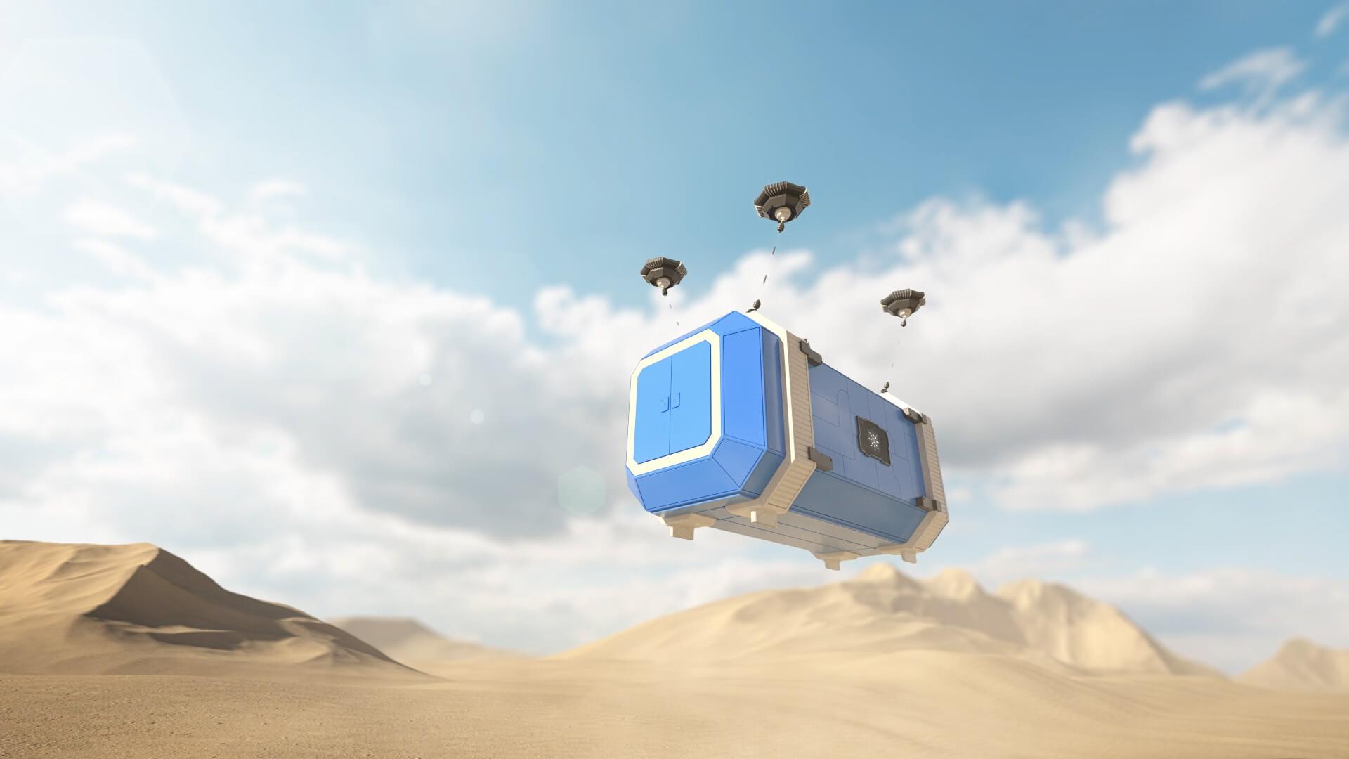 Futuristic 3D container